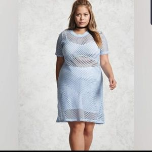 Forever 21 Blue Mesh Dress